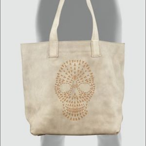 FRYE Leather Skull Tote